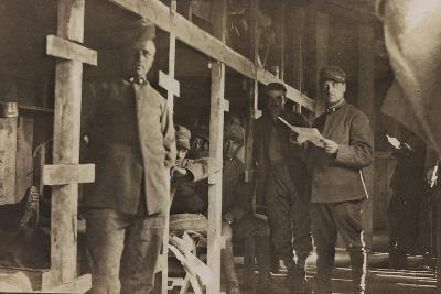 World War I: Italian Soldiers in a Barrack--Photographic Print