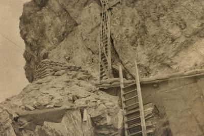 World War I: Ladders Centre 's Averau--Photographic Print