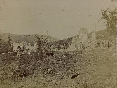 World War I: Mill Pietrarossa Karst Destroyed During the Bombing--Photographic Print
