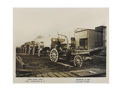 World War I: Mortai Da 260- Ansaldo-Giclee Print