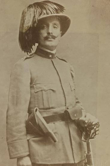 World War I: Portrait of Colonel of Sharpshooters Ragioni--Photographic Print