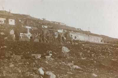 World War I: Tanks of Water in a Military Garrison in the High Mountains--Photographic Print