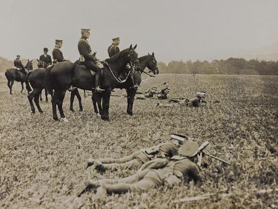 World War I: The British King George V (1865-1936) on Horseback During Military Operations--Photographic Print