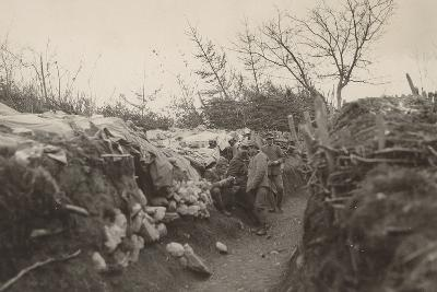 World War I: Trenches of the First Line in the Area of Tolmin--Photographic Print