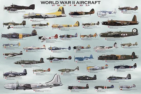 World War II Aircraft-Unknown-Art Print
