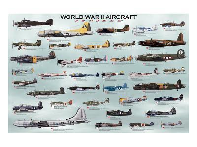 World War II Aircrafts--Art Print