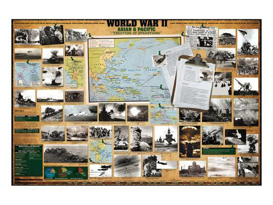 World War II - Asian and Pacific Theaters of Operations--Art Print
