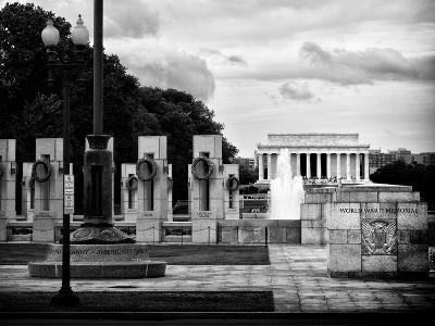 World War Ii Memorial, Washington D.C, District of Columbia, White Frame, Full Size Photography-Philippe Hugonnard-Photographic Print