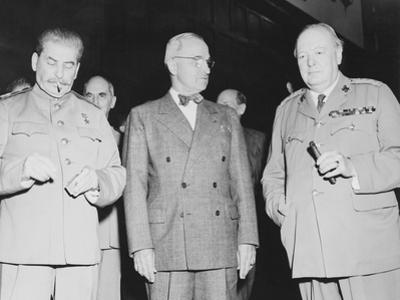 World War II Photo of Joseph Stalin, Harry Truman and Winston Churchill