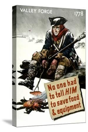 World War II Poster of a Revolutionary War Soldier Cooking over a Fire