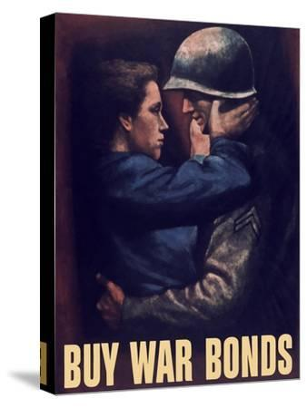 World War II Propaganda Poster of a Soldier Embracing a Woman