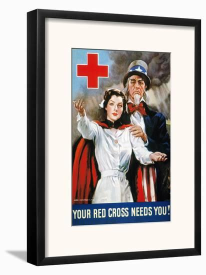 World War Ii: Red Cross-James Montgomery Flagg-Framed Giclee Print