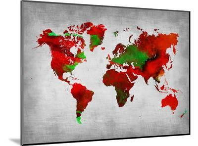 World Watercolor Map 11-NaxArt-Mounted Print