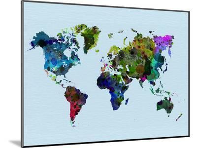 World Watercolor Map 3-NaxArt-Mounted Print