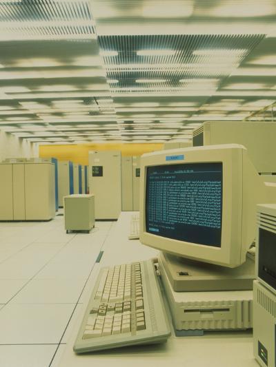World Wide Web Main Server At CERN, Geneva-David Parker-Photographic Print