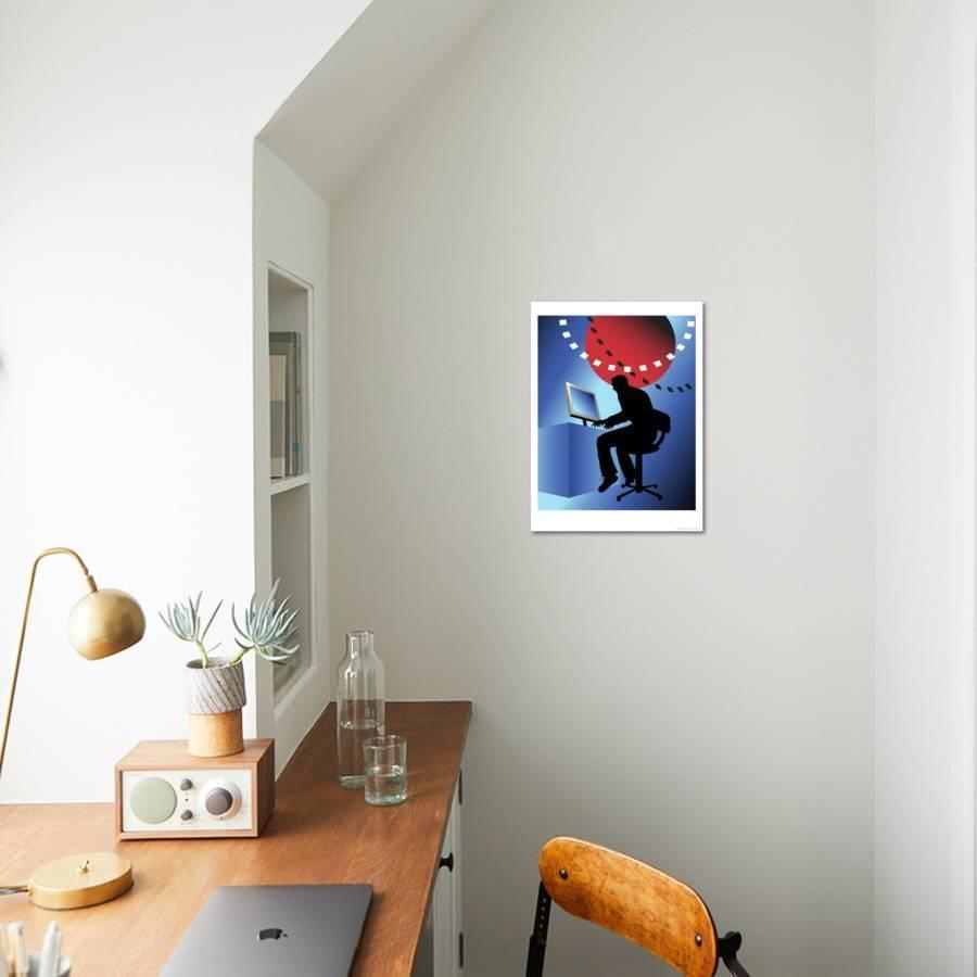 World Wide Webman, no 3 Giclee Print by Linda Braucht | Art com