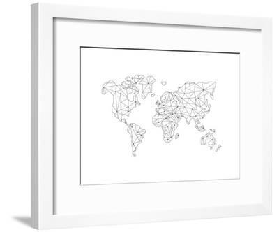 World Wire Map 5-NaxArt-Framed Art Print
