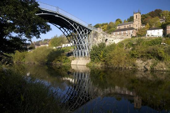 Worlds First Iron Bridge Spans the Banks of the River Severn, Shropshire, England-Peter Barritt-Photographic Print