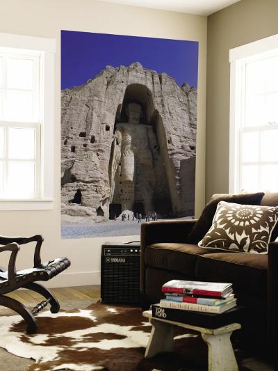 Worlds Largest Standing Buddha, Bamiyan, Afghanistan-Steve Vidler-Wall Mural