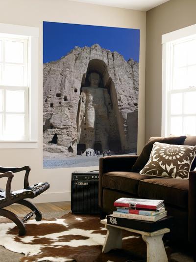 Worlds Largest Standing Buddha, Bamiyan, Afghanistan-Steve Vidler-Giant Art Print