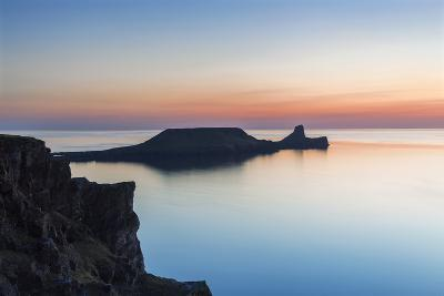 Worms Head, Rhossili Bay, Gower, Wales, United Kingdom, Europe-Billy Stock-Photographic Print
