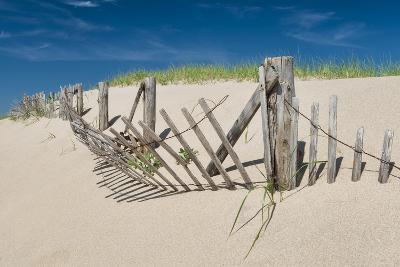 Worn Beach Fence-Michael Blanchette Photography-Photographic Print
