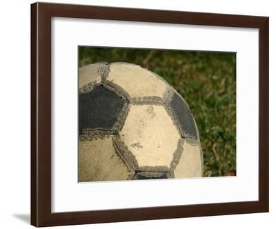 Worn Soccer Ball--Framed Photographic Print