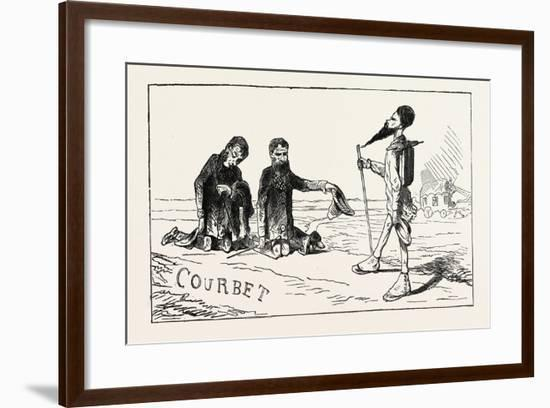 Worship of M. Courbet, Realistic Imitation of the Adoration of the Magi. 1855--Framed Giclee Print