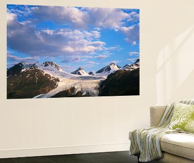 Worthington Glacier and Chugach Mountains, Thompson Pass Near Valdez, Alaska, USA-Adam Jones-Wall Mural