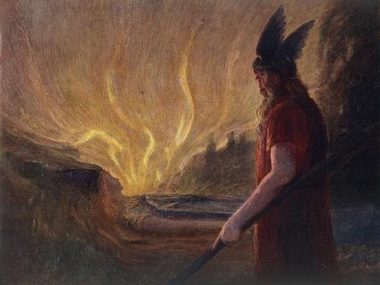 Wotan's Farewell to Brunnhilde--Giclee Print