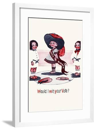 Would I Win Your Vote?-Cobb X Shinn-Framed Art Print