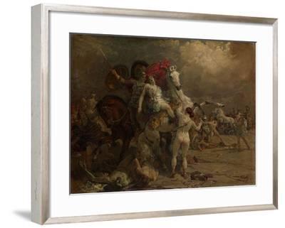 Wounded Amazon Camilla, 1922-Georgi Konstantinovich Savitsky-Framed Giclee Print