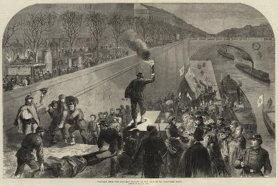 Wounded from the Ramparts Landed at the Quai De La Megisserie, Paris--Giclee Print