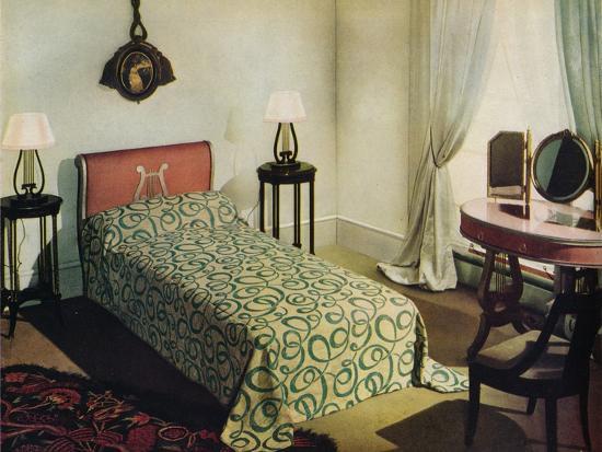 'Woven cotton bedspread by Vantona Textiles Ltd.', 1941-Unknown-Photographic Print