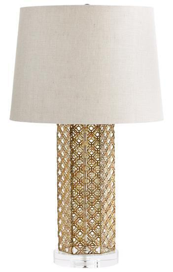 Woven Gold Table Lamp--Home Accessories