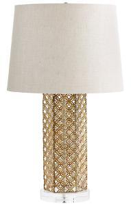 Woven Gold Table Lamp