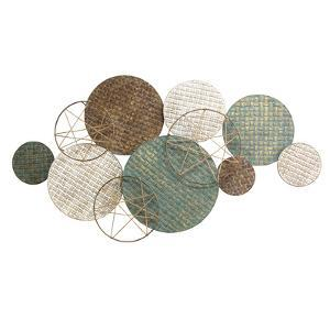 Woven Texture Metal Plates with Jute Accents