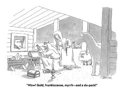 """Wow! Gold, frankincense, myrrh?and a six-pack!"" - Cartoon-Jack Ziegler-Premium Giclee Print"