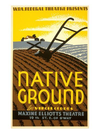 Wpa Poster for Native Ground Play--Art Print