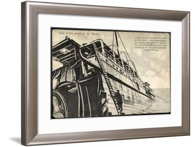 Wrack Des Schiffes Berlin, 21 Februar 1907,Strandung--Framed Photographic Print