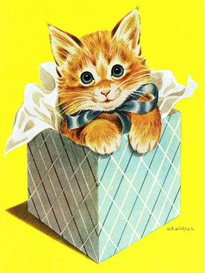 Wrapped in a Bow - Jack & Jill-Wilmer H. Wickham-Giclee Print