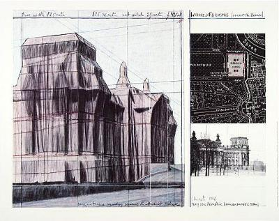 Wrapped Reichstag I-Christo-Art Print