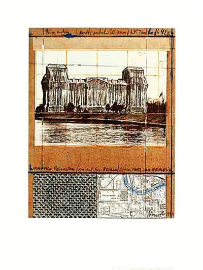Wrapped Reichstag XII-Christo-Collectable Print