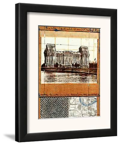 Wrapped Reichstag XII-Christo-Framed Art Print