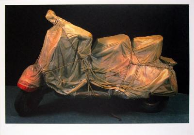 Wrapped Vespa-Christo-Art Print