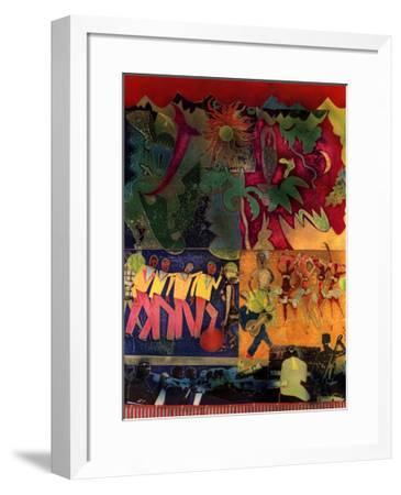 Wrapping It Up at the Lafayette-Romare Bearden-Framed Art Print