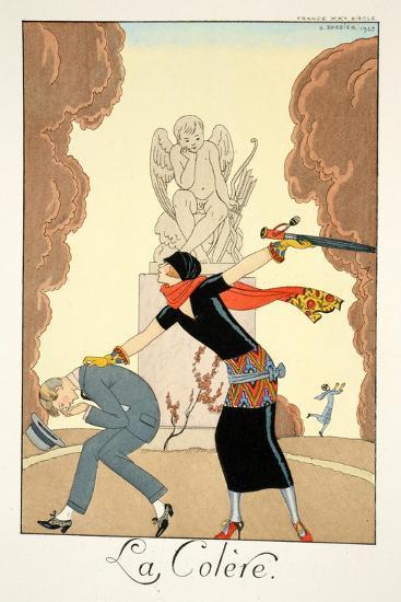 Wrath, from 'Falbalas and Fanfreluches, Almanach des Modes Présentes, Passées et Futures', 1925-Georges Barbier-Giclee Print