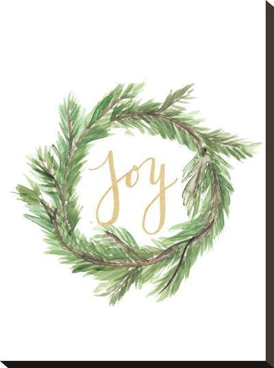 Wreath Joy-Jetty Printables-Stretched Canvas Print