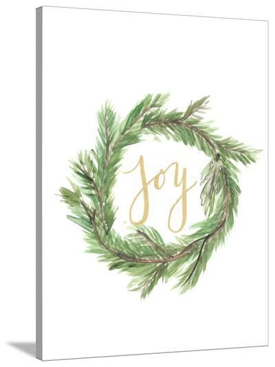 Wreath Joy-Jetty Printables-Stretched Canvas Print