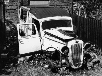 Wreck of a 1939 Austin 10--Photographic Print